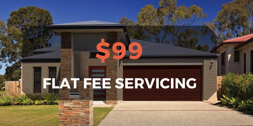 $99 flat fee servicing